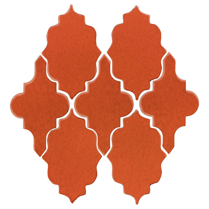 Studio Field Arabesque Pattern 12 Hazard Orange