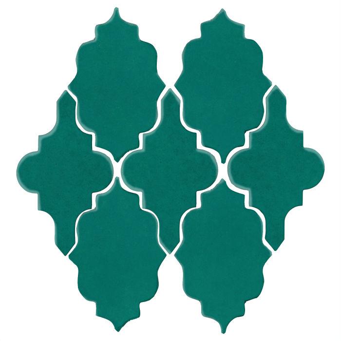 Studio Field Arabesque Pattern 12 Viridian 7721c