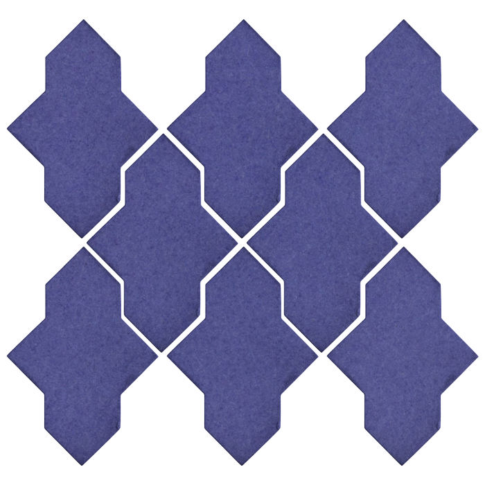 Studio Field Arabesque Pattern 2A Blue Satin 7684u