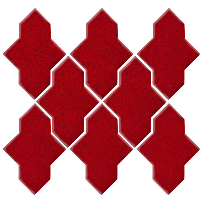 Studio Field Arabesque Pattern 2A Cadmium Red 202c