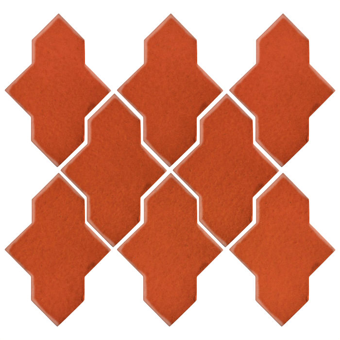 Studio Field Arabesque Pattern 2A Hazard Orange
