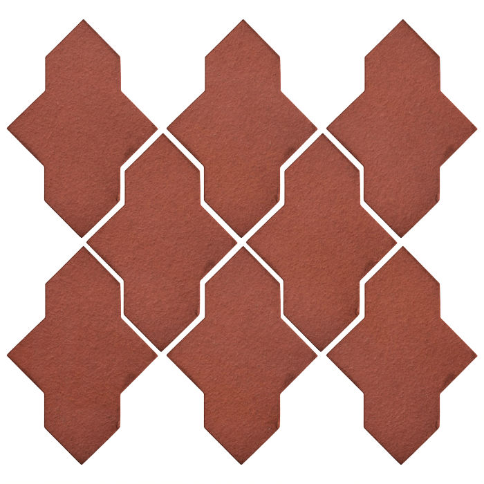 Studio Field Arabesque Pattern 2A Monrovia Red