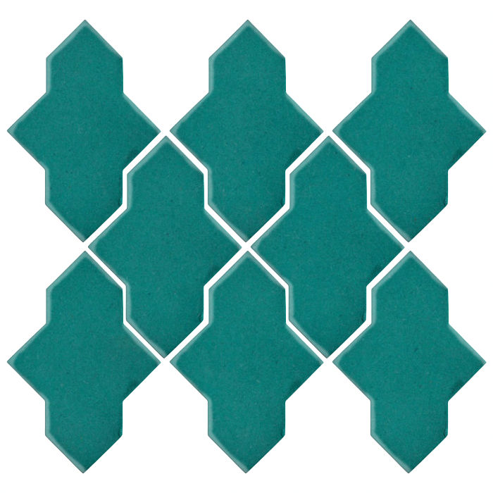Studio Field Arabesque Pattern 2A Real Teal 5483c