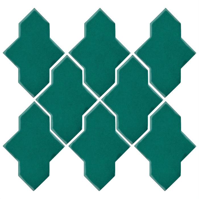 Studio Field Arabesque Pattern 2A Viridian 7721c