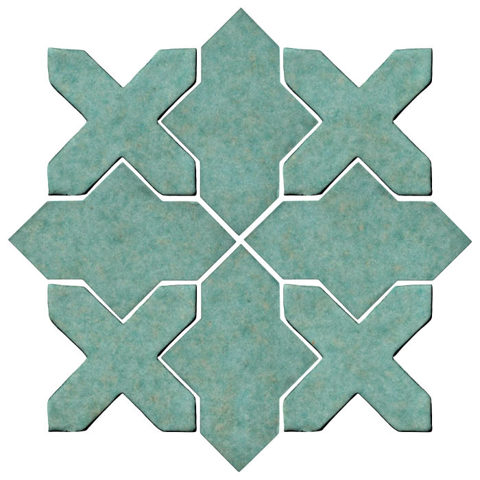 Studio Field Arabesque Pattern 2B Aqua 5503u