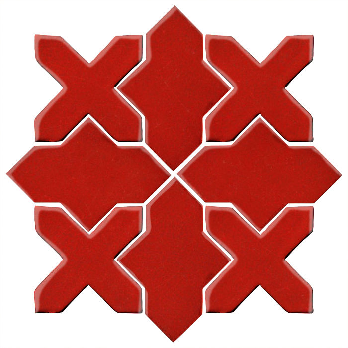 Studio Field Arabesque Pattern 2B Brick Red 7624c