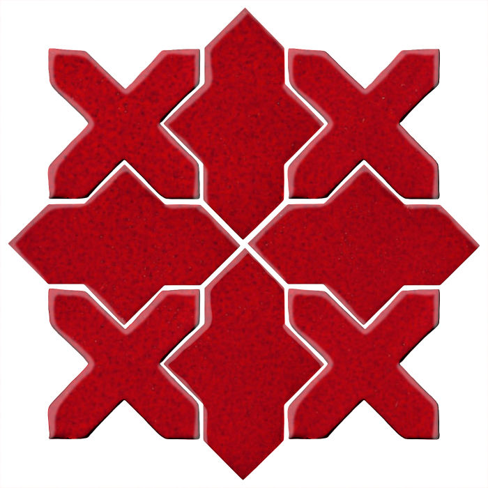 Studio Field Arabesque Pattern 2B Cadmium Red 202c