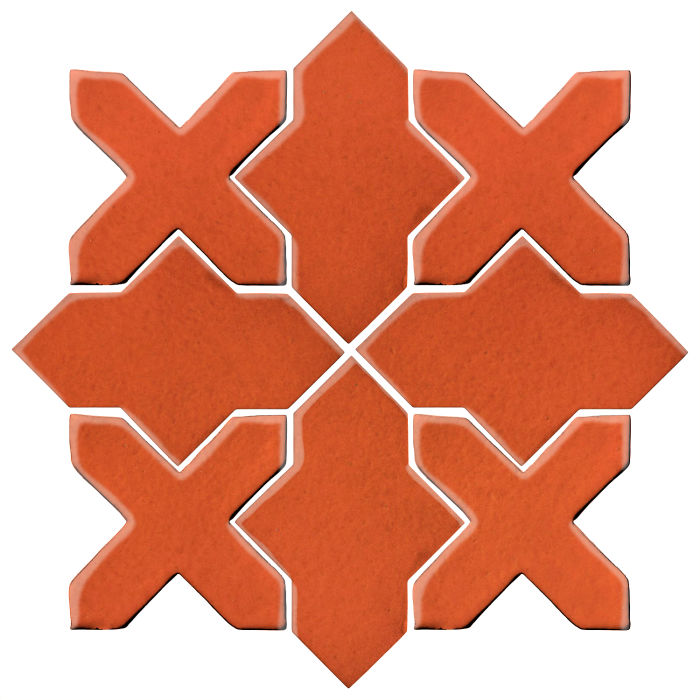 Studio Field Arabesque Pattern 2B Hazard Orange