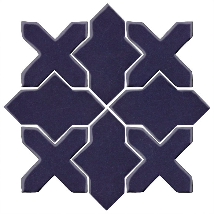 Studio Field Arabesque Pattern 2B Midnight Blue 2965c