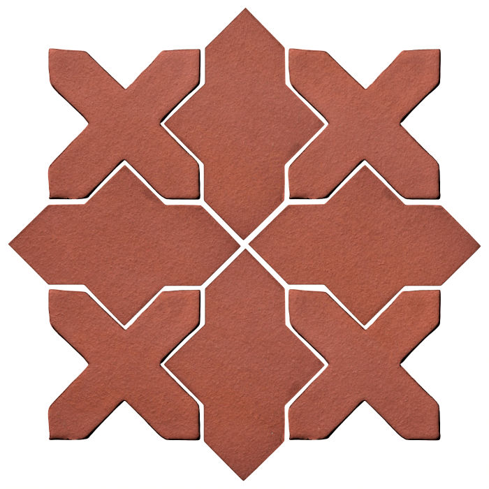 Studio Field Arabesque Pattern 2B Monrovia Red