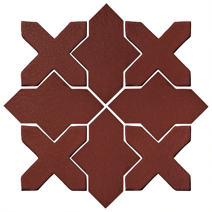 Studio Field Arabesque Pattern 2B Pueblo Red