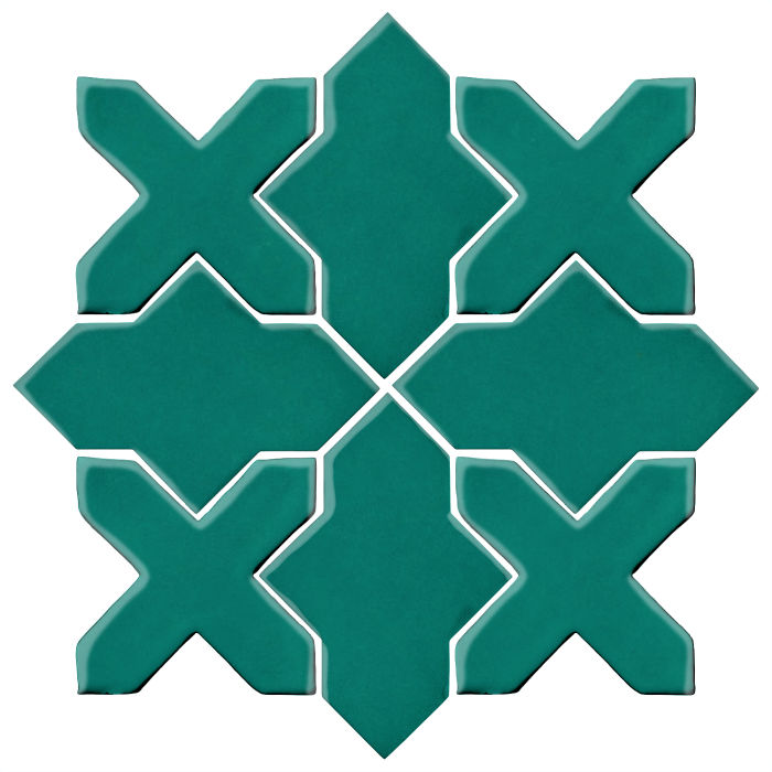 Studio Field Arabesque Pattern 2B Viridian 7721c