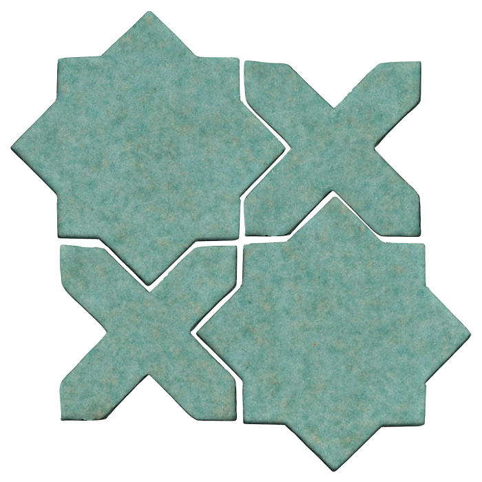 Studio Field Arabesque Pattern 2C Aqua 5503u