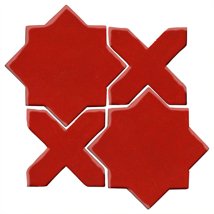 Studio Field Arabesque Pattern 2C Brick Red 7624c