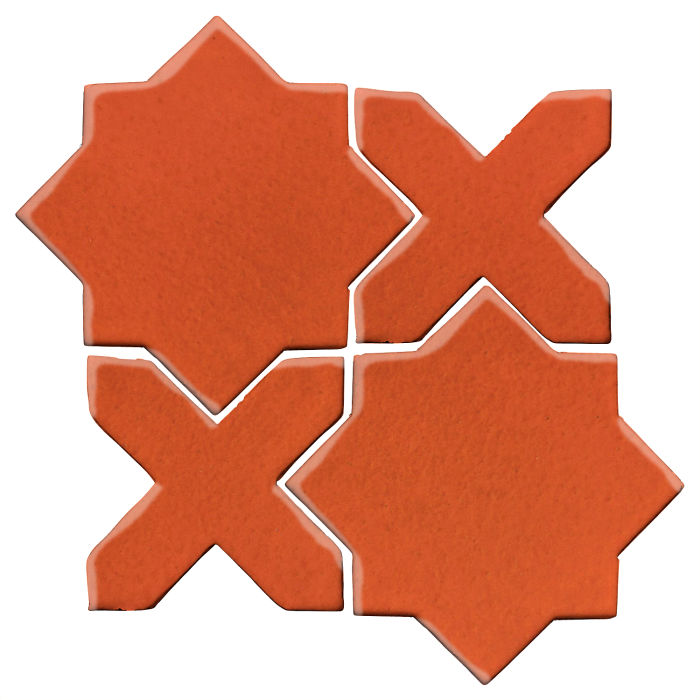 Studio Field Arabesque Pattern 2C Hazard Orange