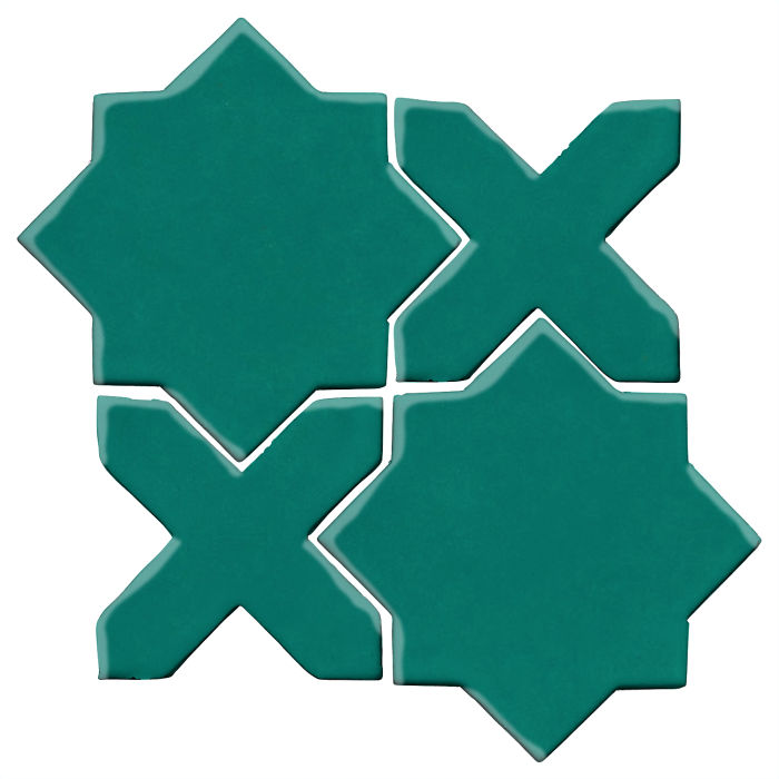 Studio Field Arabesque Pattern 2C Viridian 7721c