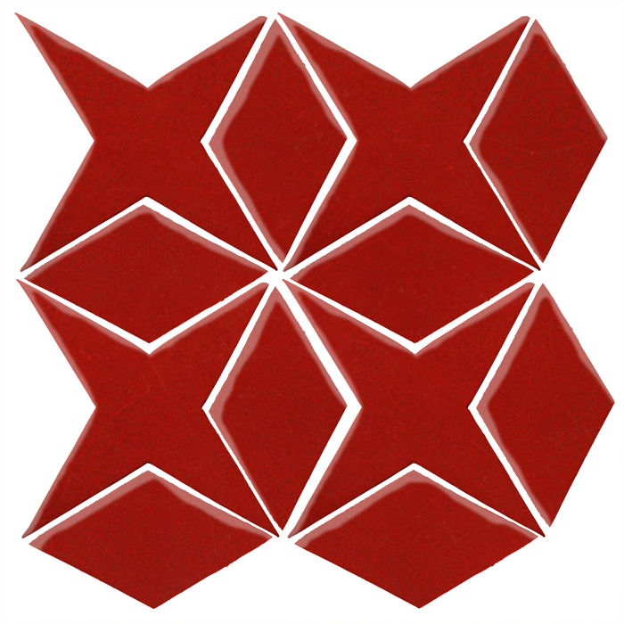 Studio Field Arabesque Pattern 4 Brick Red 7624c
