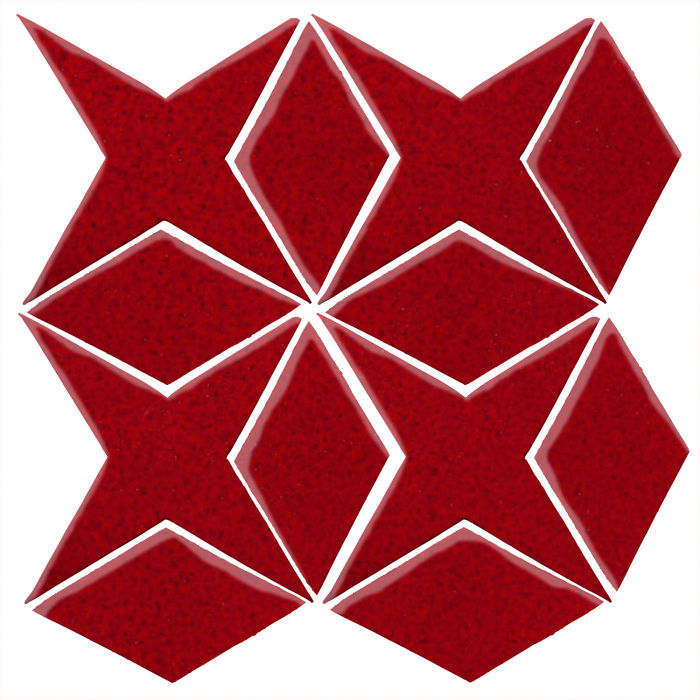 Studio Field Arabesque Pattern 4 Cadmium Red 202c