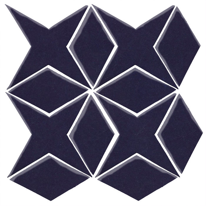 Studio Field Arabesque Pattern 4 Midnight Blue 2965c