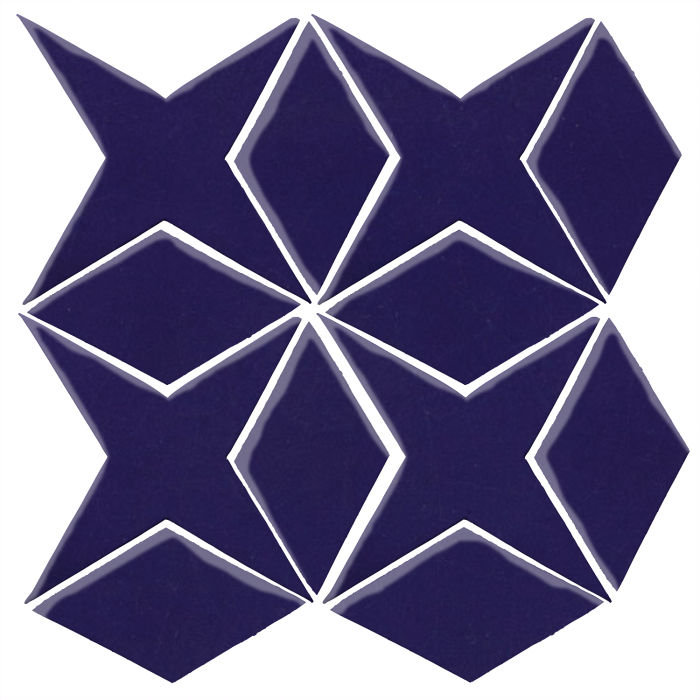 Studio Field Arabesque Pattern 4 Ultramarine 2758c