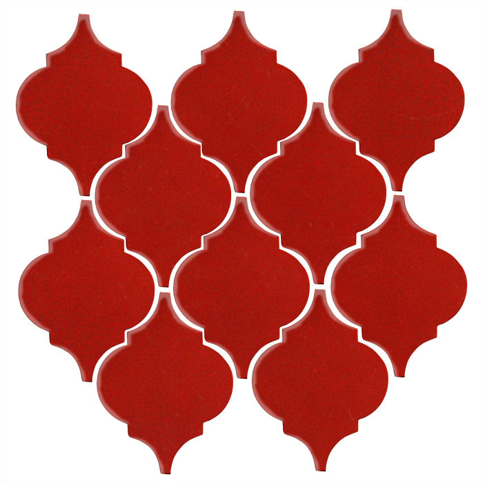 Studio Field Arabesque Pattern 5A Brick Red 7624c