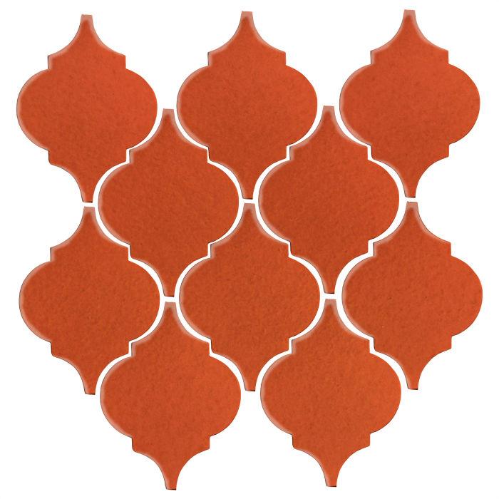 Studio Field Arabesque Pattern 5A Hazard Orange