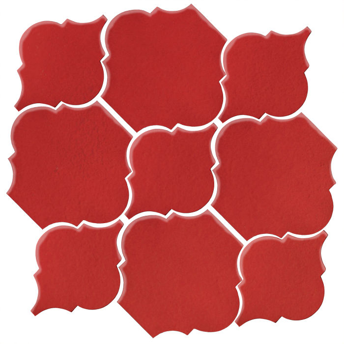 Studio Field Arabesque Pattern 5B Apple Valley Red