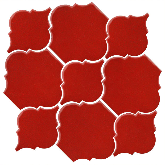 Studio Field Arabesque Pattern 5B Brick Red 7624c