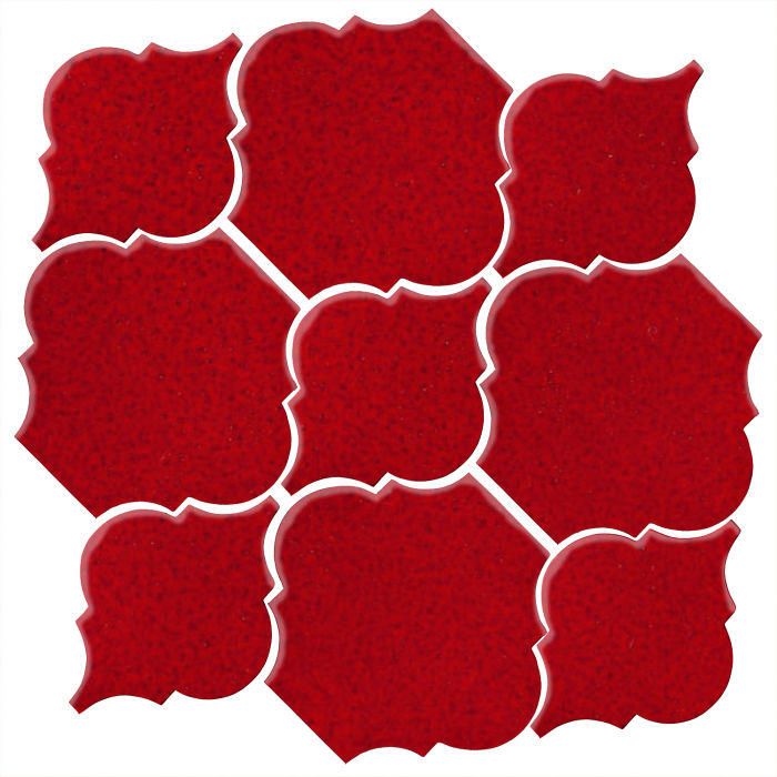 Studio Field Arabesque Pattern 5B Cadmium Red 202c