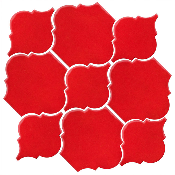 Studio Field Arabesque Pattern 5B Cherry Tomato 7621c