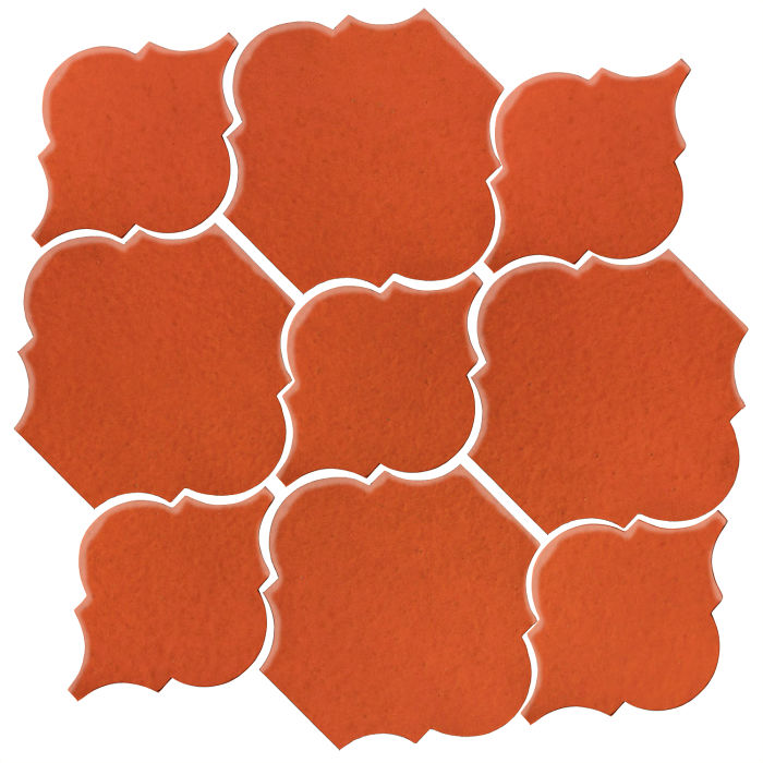 Studio Field Arabesque Pattern 5B Hazard Orange