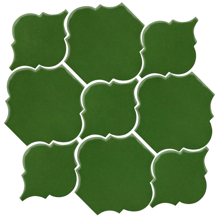 Studio Field Arabesque Pattern 5B Lucky Green 7734c