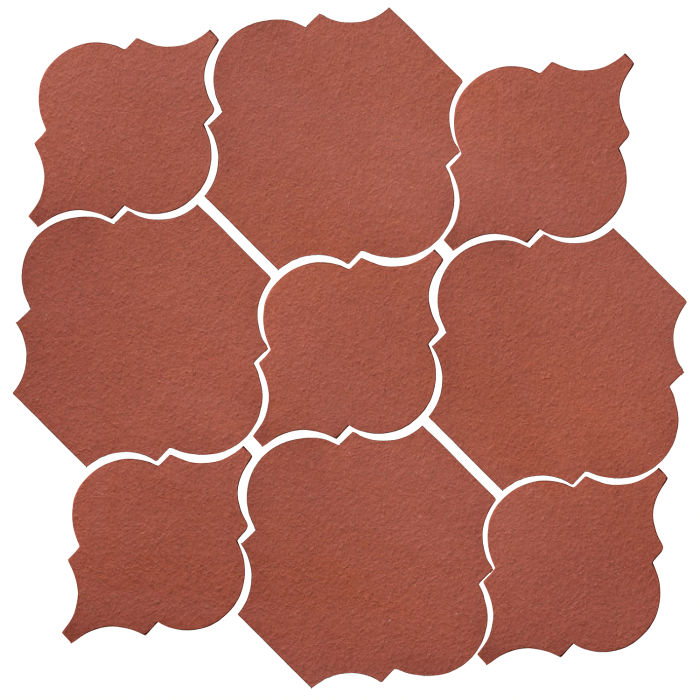 Studio Field Arabesque Pattern 5B Monrovia Red