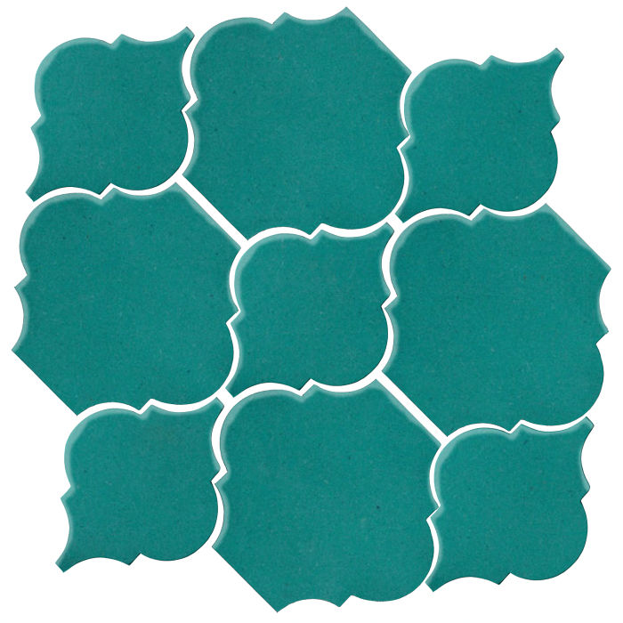Studio Field Arabesque Pattern 5B Real Teal 5483c