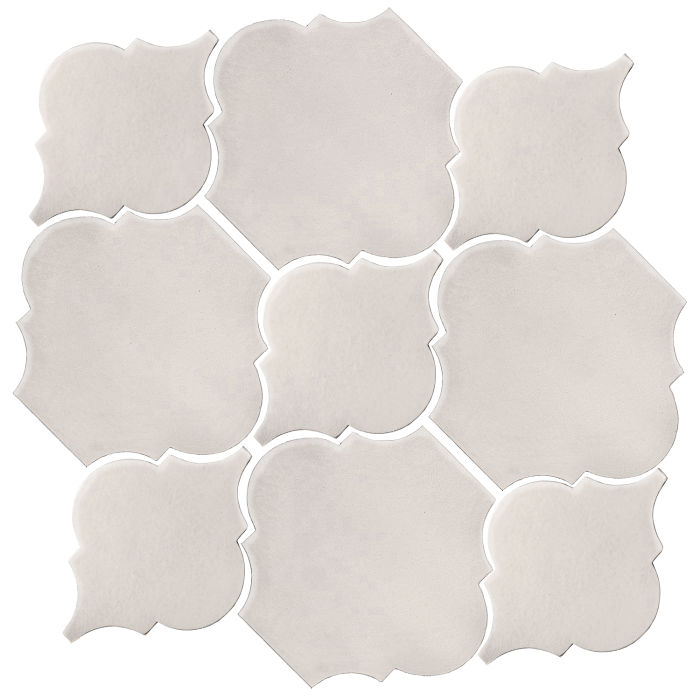 Studio Field Arabesque Pattern 5B Pure White