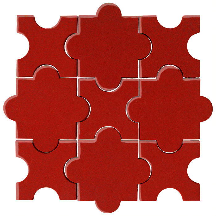 Studio Field Arabesque Pattern 8A Brick Red 7624c