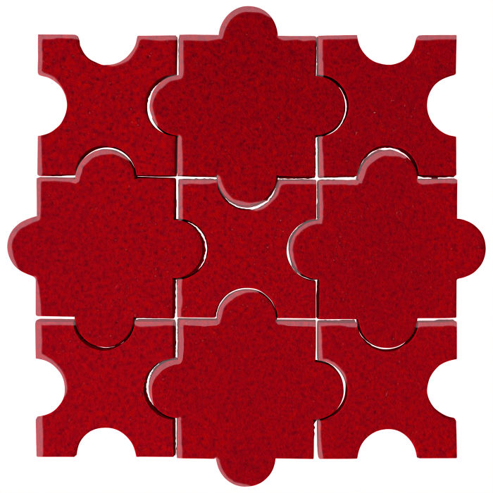 Studio Field Arabesque Pattern 8A Cadmium Red 202c
