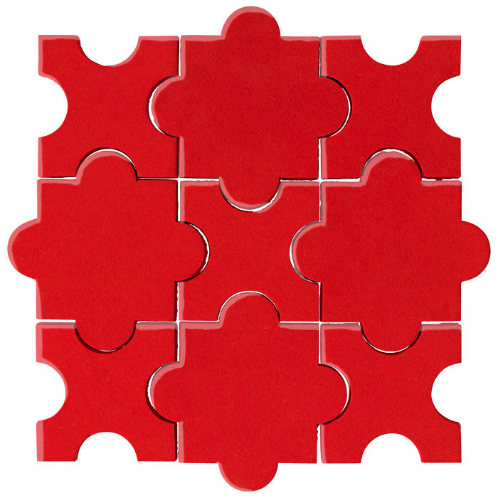 Studio Field Arabesque Pattern 8A Cherry Tomato 7621c