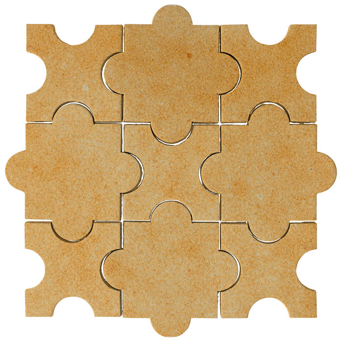 Studio Field Arabesque Pattern 8A Deli Mustard 7551u