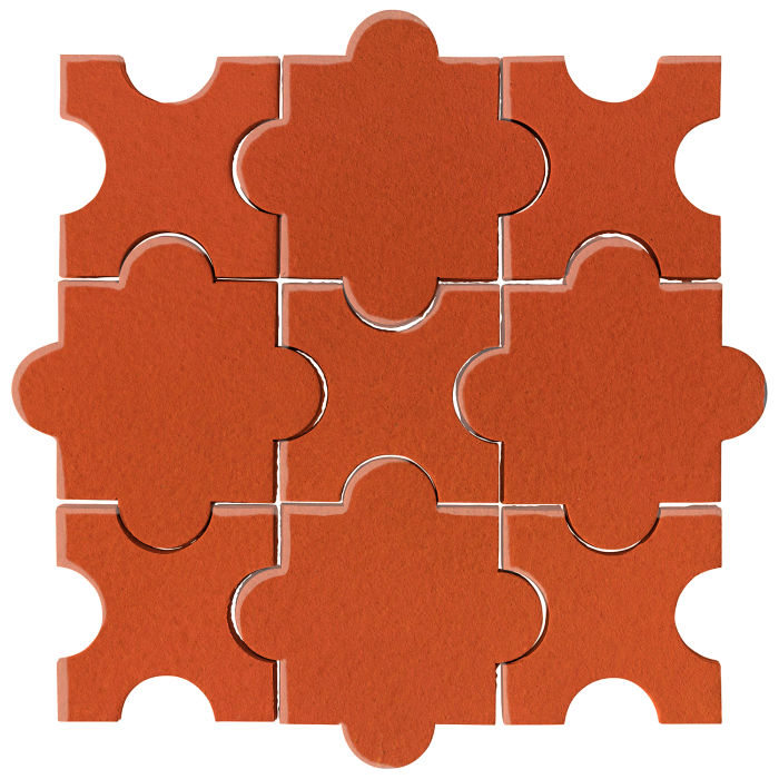 Studio Field Arabesque Pattern 8A Hazard Orange