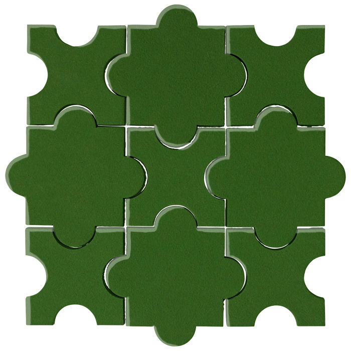 Studio Field Arabesque Pattern 8A Lucky Green 7734c