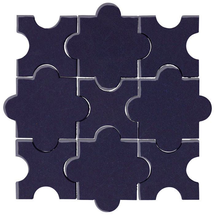 Studio Field Arabesque Pattern 8A Midnight Blue 2965c