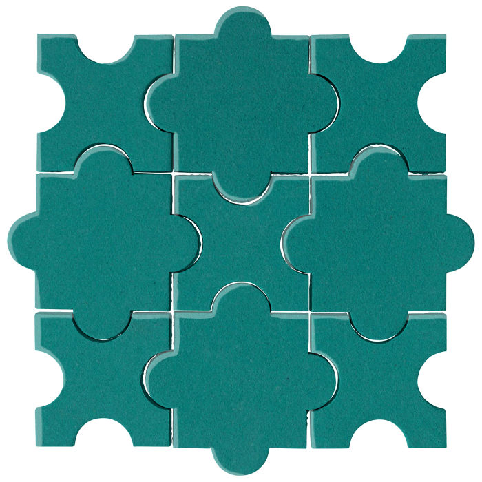 Studio Field Arabesque Pattern 8A Real Teal 5483c