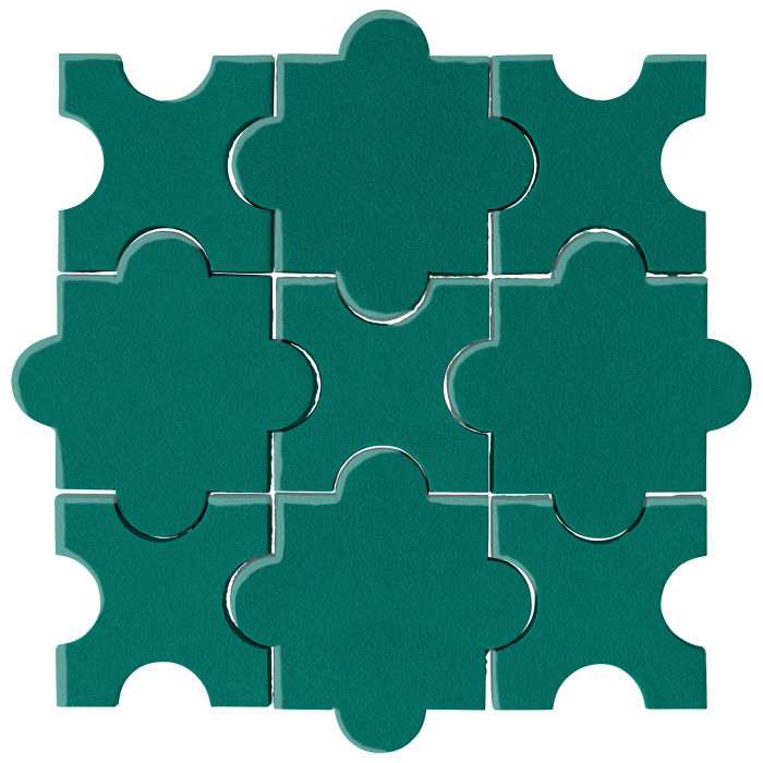 Studio Field Arabesque Pattern 8A Viridian 7721c