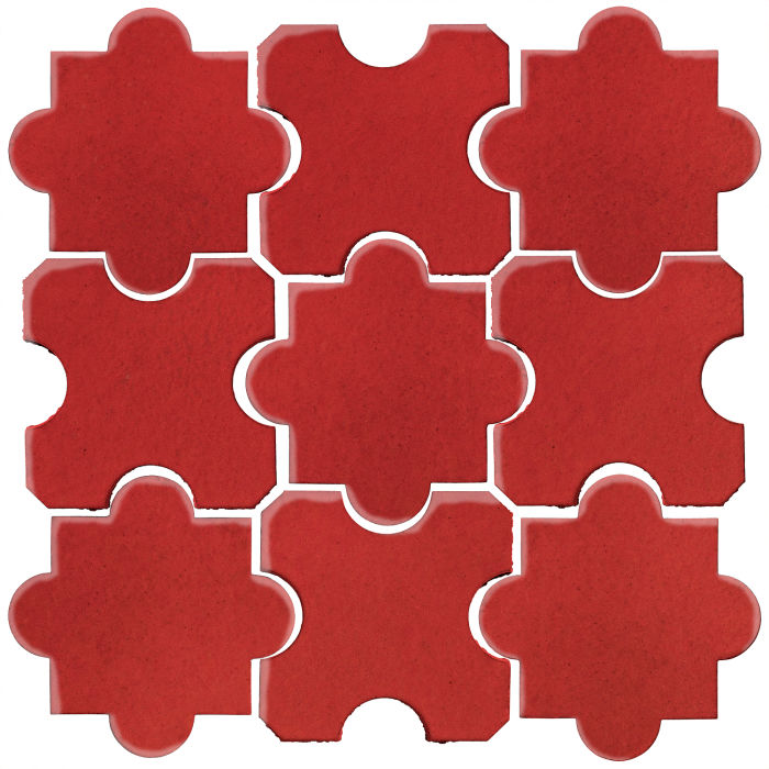 Studio Field Arabesque Pattern 8B Apple Valley Red