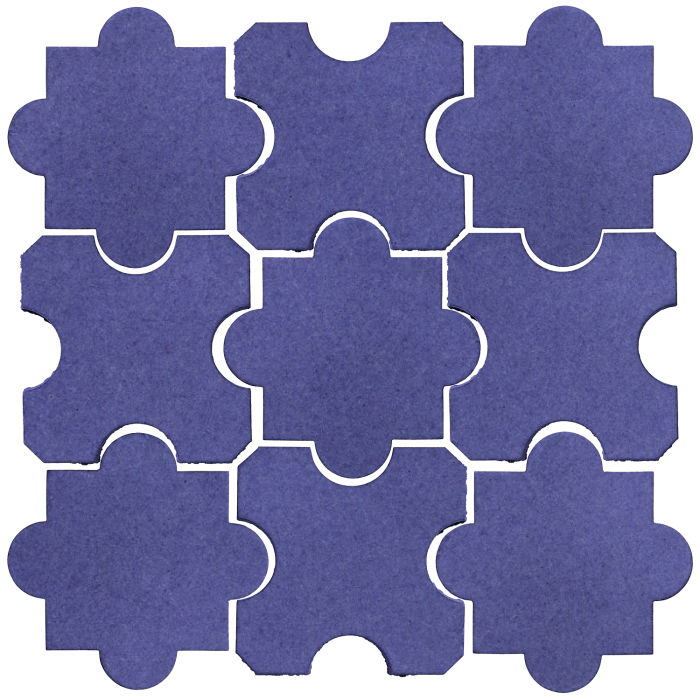 Studio Field Arabesque Pattern 8B Blue Satin 7684u