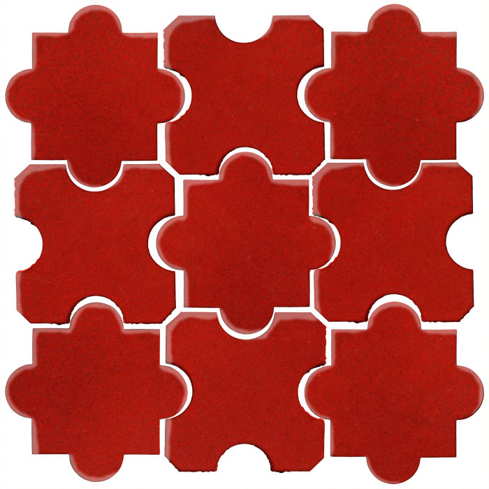 Studio Field Arabesque Pattern 8B Brick Red 7624c