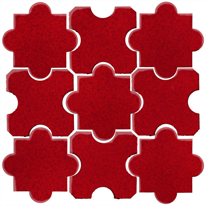 Studio Field Arabesque Pattern 8B Cadmium Red 202c