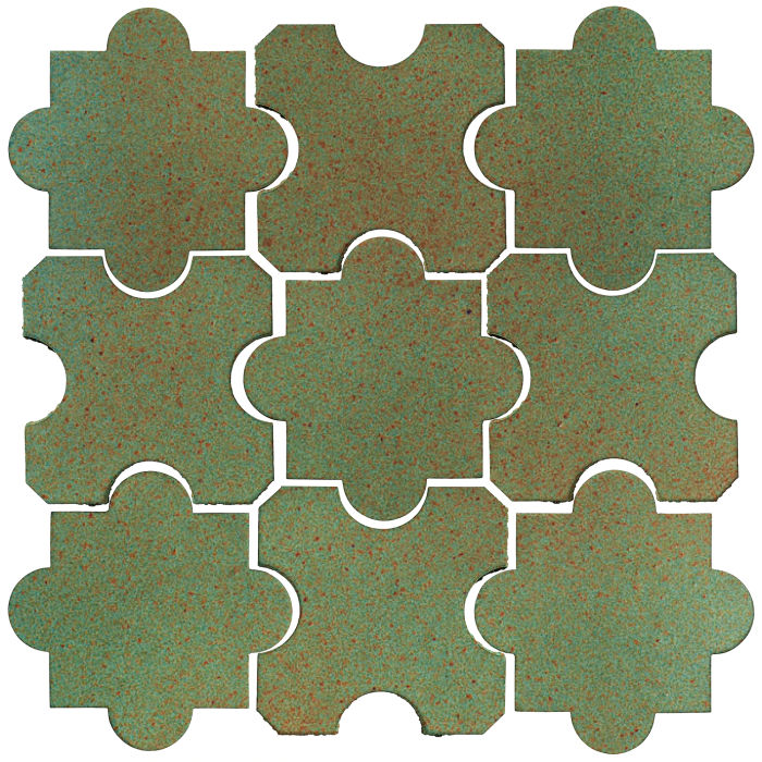Studio Field Arabesque Pattern 8B Light Copper