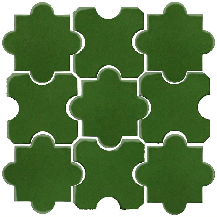 Studio Field Arabesque Pattern 8B Lucky Green 7734c